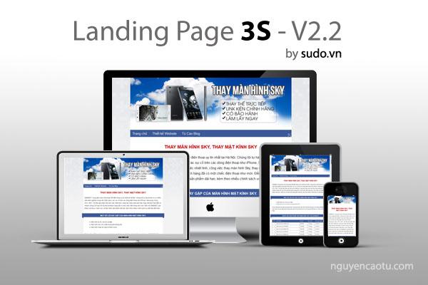 Free Template Blogspot - LandingPage 3S by Sudo.vn