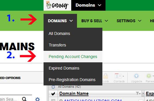 Xác nhận chuyển đổi tài khoản Godaddy