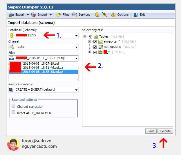 Restore Database Sypex Dumper