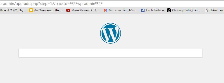 VD một trang WordPress bị lỗi trang trắng khi nâng cấp