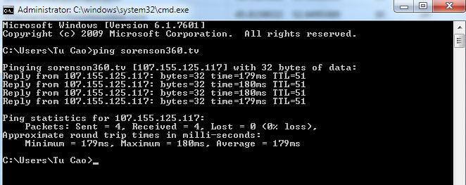 Kiểm tra domain đã được trỏ về VPS hay chưa