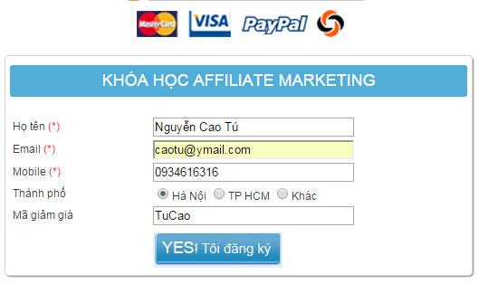 Khoác học Affiliate cho thị trường Việt Nam