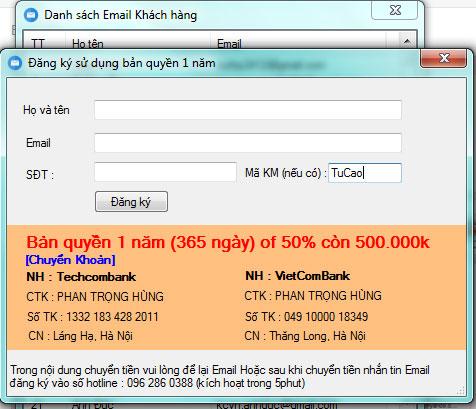 Nhập mã khuyến mại TuCao để được tặng thêm 2 tháng