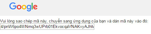 Đoạn mã Access Token để xác thực Google Driver của Tú với Plugin này