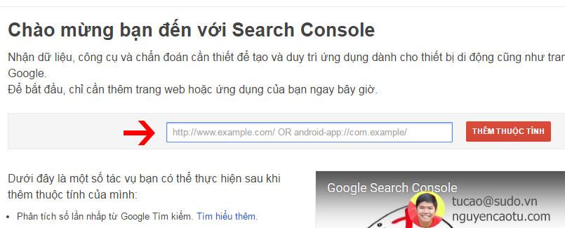 Nhập Website sau đó nhấn Thêm thuộc tính