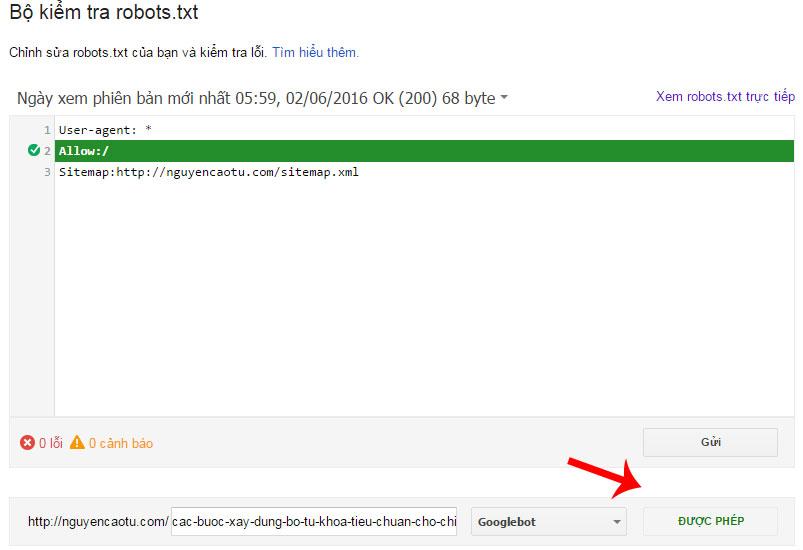 Kiểm tra file Robots.txt có cấu hình đúng hay không?