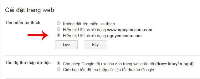 Lựa chọn tên miền ưa thích cho Website
