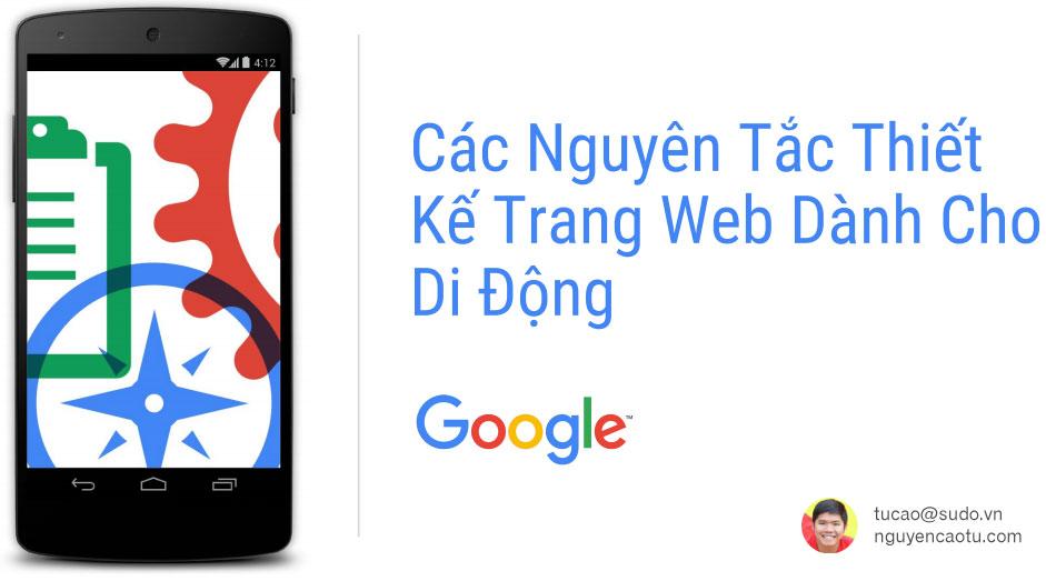 25 nguyên tắc thiết kế Website cho Mobile từ Google