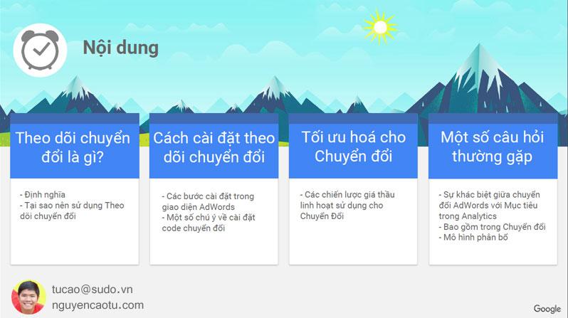 Cài đặt theo dõi chuyển đổi trong Google Adwords