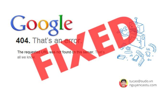 Lỗi 404 là gì và cách xử lý chúng