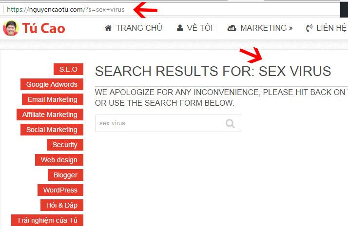 Trang tìm kiếm là trang có nội dung tự tạo, rất nguy hiểm và cần chặn lập chỉ mục