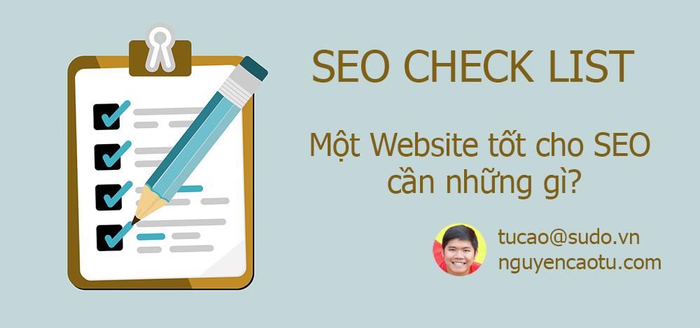File check list tối ưu hoá Website