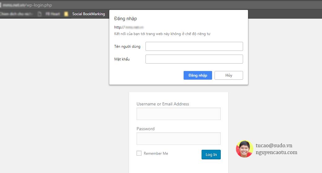 Bảo mật 2 lớp thư mục wp-admin