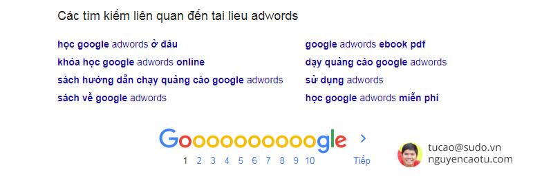 """Từ khóa LSI của Keywords """"Tài liệu Adwords"""""""