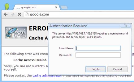 Tạo password cho Squid Proxy trên CentOS