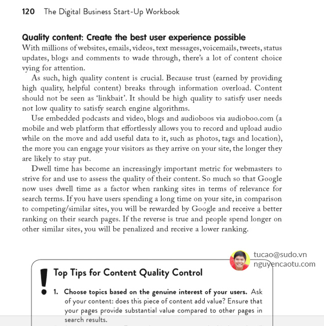 Tác giả Cheryl Rickman (7 May 2012) The Digital Business Start-Up Workbook: The Ultimate Step-by-Step Guide to Succeeding Online from Start-up to Exit