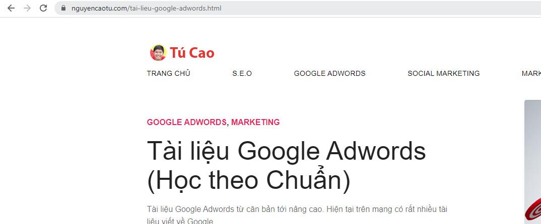 URL thân thiện cho bài viết