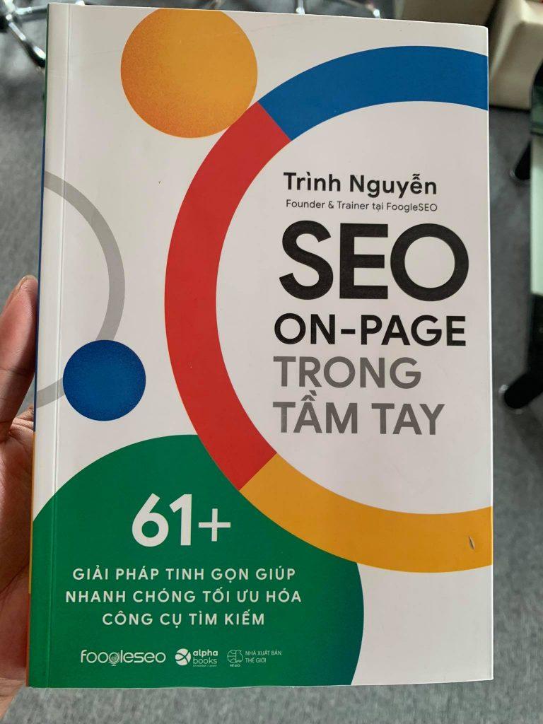 Trên tay sách SEO On-Page trong tầm tay