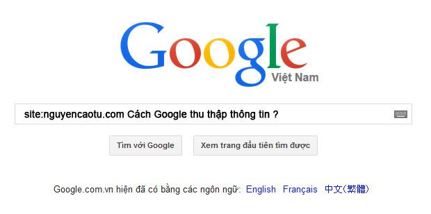 Google thu thap thon gtin va xep hang tu khoa