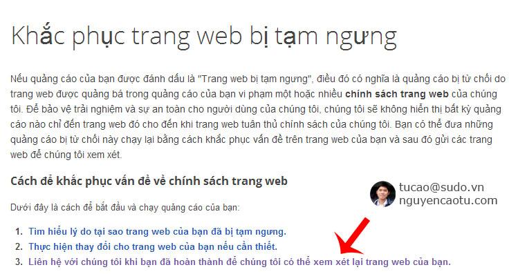 khắc phục trang Web