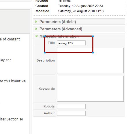 metatitle admin seo joomla-15