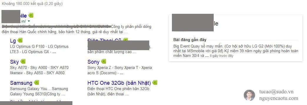 thông tin chia sẻ đồng bộ với Google